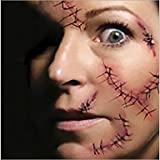 alallti 5pcs Hot Halloween maquillaje Decoración Disfraz Zombie Scar Tatuajes Temporales