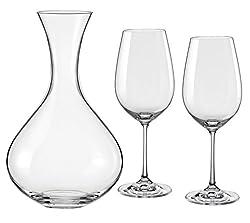 Bohemia Crystal Viola wine Glass(450ml) and decanter(1500ml) 3pcs set