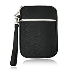 7.9 inch Black Navy tablet pouch bag case with cell phone smartphone pocket for Ipad Mini