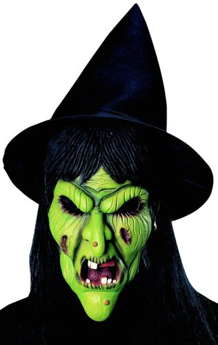 Rubie's Costume Co Witch Mask with Hat & Hair Costume - 1