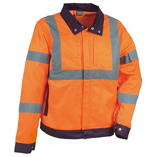 Cofra 40-00V29002-M - Giacca colorata ad alta visibilità, 245 g/m², modello: Tempel V290, colore: arancione segnaletico