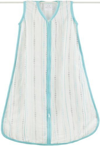 Aden + Anais Rayon From Bamboo Sleeping Bag, Azure Beads, Small Color: Azure Beads Size: Small Newborn, Kid, Child, Childern, Infant, Baby front-537705
