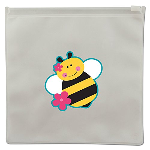 Stephen Joseph Bee Reusable Snack Bags, Clear