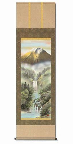 掛け軸 宇田川彩悠 掛軸(尺三) 「金富士山水」/ 絵画 壁掛け のあゆわら