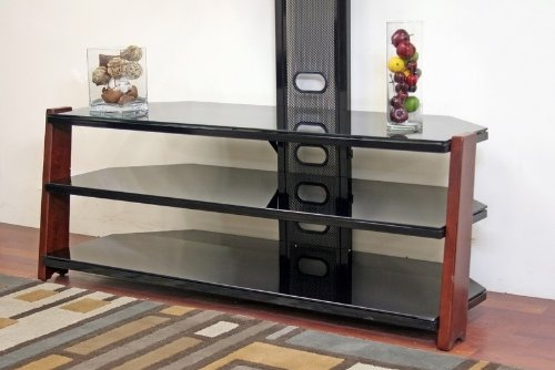 Cheap Flat Panel TV Stand with Integrated Mount in Antiqued Cherry Finish (VF_WI-BY-603R)