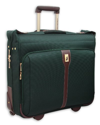 London Fog Oxford II 44 Inch Wheeled Garment Bag, Green, One Size top price