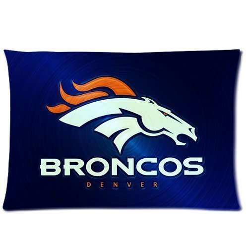 Bedroom Decor Denver Broncos Pillowcase Rectangle Zippered Two Sides 16x24 Pillow Cover Cushion Case Covers