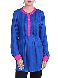 Iande Blue color reyon top