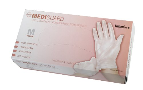 MediGuard Vinyl Synthetic Exam Gloves, Qty 1000