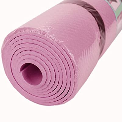 4mm thick pink Yoga Mat Durable Non-Slip Pad Exercise Fitness Blanket, Thick Non-Slip Yoga Mat Pad Exercise Fitness Light Weight Workout 180x50 cm