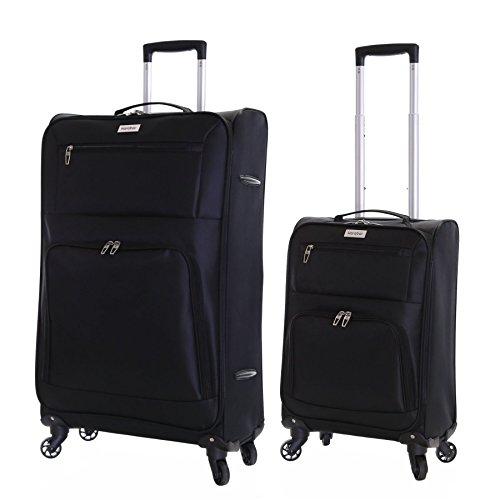 Karabar Lecce set di 2 valigie ultra leggeri, Nero