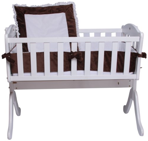 Snuggle Diamond Cradle Bedding Set, Chocolate