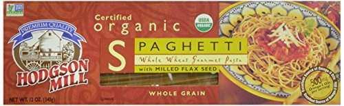 Hodgson Mill Organic Whole Wheat Spaghetti with Milled Flax Seed, 12-Ounce Boxes (Pack of 12) (Pasta Spaghetti Box compare prices)