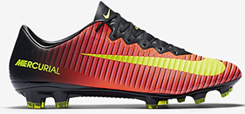 Nike Mercurial Vapor X FG Soccer Cleat (Total Crimson, Black) Sz. 6.5 (Nike Vapor Ronaldo compare prices)