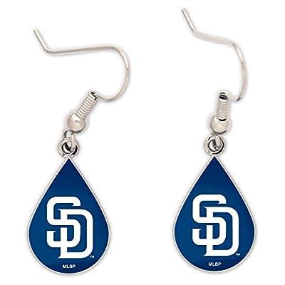 MLB San Diego Padres Tear Drop Earrings, Large, Multi