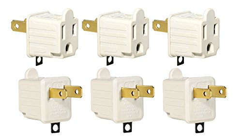 3-Prong to 2-Prong Adapter Grounding Converter 3 Pin to 2 Pin Power AC Ground Lifter For wall Outlets Plugs, Electrical, Household, Workshops, Industrial, Machinery, And Appliances, 6-Piece. (Toast Oven Cover compare prices)