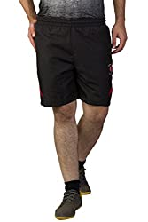 Greenwich United Polo Club Men's Polyester Shorts (GUPC17_Black_X-Large)