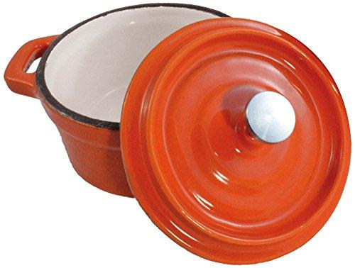 Paderno World Cuisine Mini Orange Enamel Dutch Oven, 29-Ounce (Small Enamel Dutch Oven compare prices)