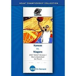 2007 NCAA(r) Division I Men's Basketball 1st Round - Kansas vs. Niagara