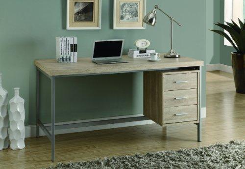 Monarch Reclaimed Looksilver Metal Office Desk 60 Inch