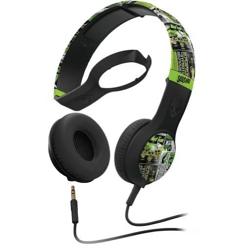 Skullcandy Cassette Lurker Toxic Flyer With Mic1 Wired Premium Headphone - Green / One Size