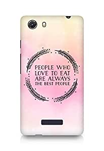 AMEZ people who love to eat are always the best people Back Cover For Micromax Unite 3