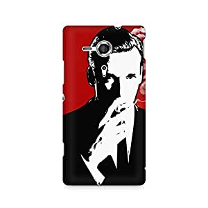 Mobicture Suit and Cig Premium Printed Case For Sony Xperia SP M35H