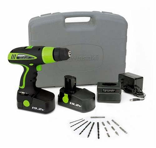 Kawasaki 840110 Black 19.2Volt Drill Kit