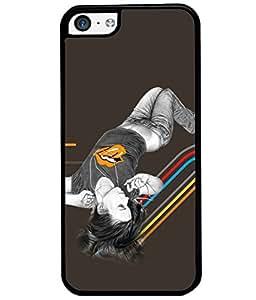Fuson Sweet Girl Back Case Cover for APPLE IPHONE 5C - D3883