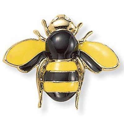 PalmBeach Jewelry Enamel and Crystal Bee Pin