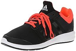 adidas Performance S-Flex K Running Shoe ,Core Black/Infrared/Running White,12 M US Little Kid