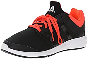 adidas Performance S-Flex K Running Shoe ,Core Black/Infrared/Running White,12 M US Little Kid