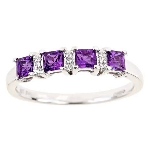 58-Carat-Princess-Cut-Amethyst-Diamond-Ring-Wedding-Band
