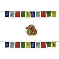 Aaradhi Divya Mantra Tibetian Buddhist Prayer Flags Combo Pack (Multicolor)
