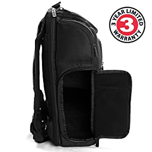 Professional Gear Backpack for Digital SLR Nikon Cameras , Laptops and Accessories by USA Gear - Works With Nikon D7200 , D810A , Coolpix P900 & More