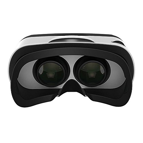 Seesii Baofeng Mojing 4 IV Android Virtual Reality VR Goggles 3D VR Glasses 3D Video Glasses Headset With Remote Control Gamepad for 4.7-5.5in iPhone Smartphones (White for Android)