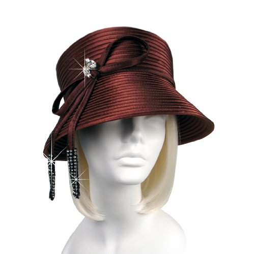 Year-round hat with bow - L10 Brown