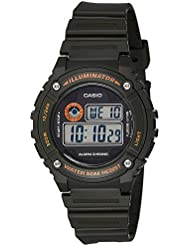 Casio Youth-Digital Digital Black Dial Men's Watch - W-216H-3BVDF