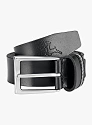 Parx Black Leather Men's Belt
