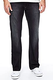 Denim Boot Cut Belted Jeans [T17-6966N-S]