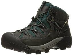 KEEN Men\'s Targhee II Mid WP Shoe, Beluga/Junebug, 7.5 M US