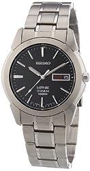 Seiko Men's SGG731 Titanium Silver Dial Watch