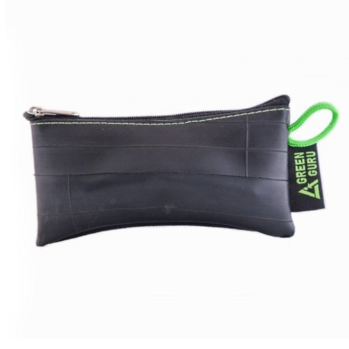 green-guru-recycled-zip-pouch-black-tire-tube-coin-wallet-bike-trucker-gift-smal
