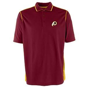 Washington Redskins NFL Fuel Mens Polo Shirt (Cabernet Gold) by Antigua