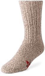 Wigwam Men\'s EL-Pine Ragg Wool Crew Socks, Grey Twist, Large