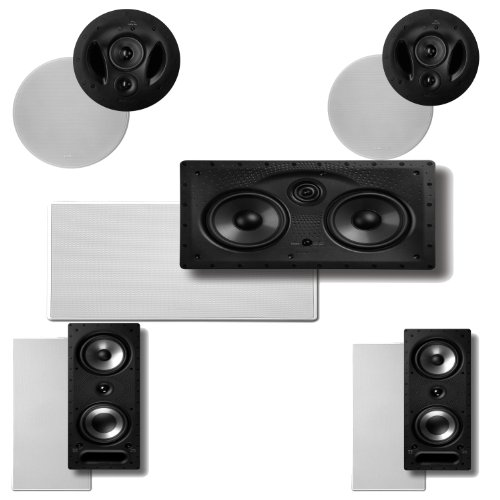 Polk Audio 90-Rt In-Ceiling Speakers (Pair) Plus Polk Audio 265Rt 3-Way In-Wall Speakers (Pair) & A Polk Audio 255C-Ls Center Channel Speaker