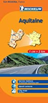 Michelin Map Aquitaine, France (Michelin Maps)