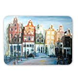 Houses of Amsterdam, 1999 (oil on canvas) by.. - Mouse Mat Art247 Highest Quality Natural Rubber Mouse Mats - Mouse Mat