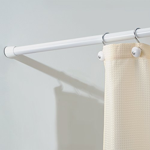 Interdesign Cameo Constant Tension Bathroom Shower Curtain Rod 26 42 Small White Food