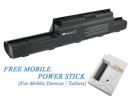 Acer Aspire 7741Z-4643 Laptop Battery 71Wh 6600mAh with unencumbered Mobile Power Stick - Premium Powerwarehouse Replacement Battery